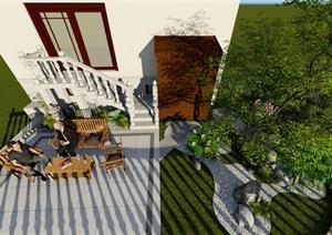 日式小景、混搭风格庭院设计