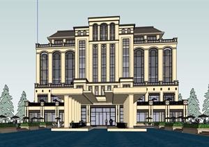某欧式风格详细的经典酒店设计SU(草图大师)模型
