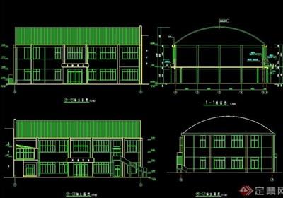 体育场馆详细设计cad施工图