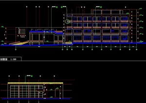 学校综合楼建筑设计cad施工图