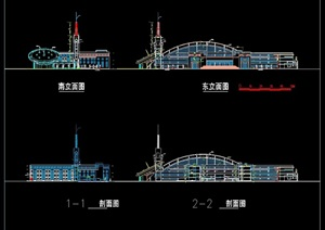 某小学多层详细建筑设计cad方案面图