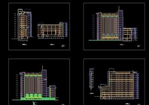 某详细大学综合楼建筑cad方案图