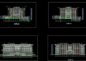 某大学图书馆建筑设计cad施工图
