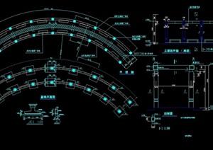 亭廊详细素材设计cad施工图