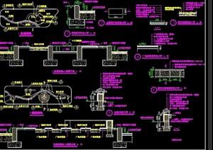 住宅小区详细花园绿化设计cad施工图
