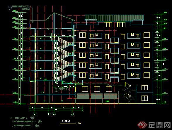 七层商住楼建筑设计图