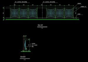 蛛网形围墙设计cad施工图