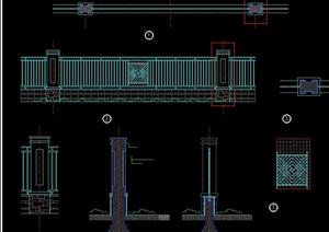 围墙标准段cad方案图