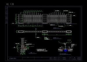 详细的完整围墙设计cad施工图