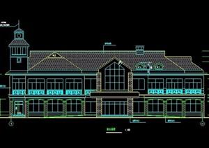 某山庄会馆建筑设计施工图