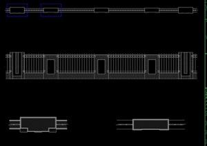 无尺寸材料标注围墙设计cad方案