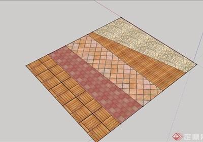 地面铺装贴图材质su模型