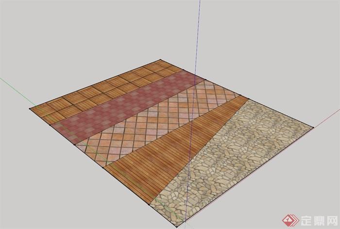 地面鋪裝貼圖材質su模型