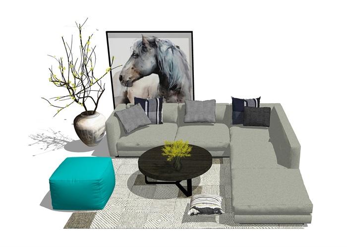 现代风格客餐厅家具组合(3)