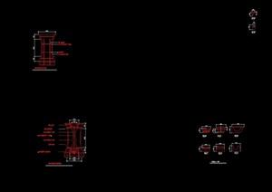欧式风格柱子素材cad施工图