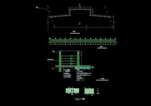 详细的完整景观围墙设计cad施工图