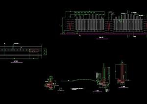 详细的完整小区围墙设计cad施工图
