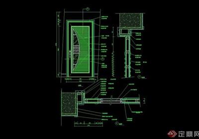 某详细的完整室内门素材设计cad施工图