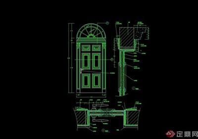 欧式风格详细的室内门素材cad施工图
