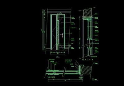 卧室门详细设计cad施工图