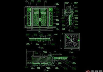 某整体详细的室内门设计cad施工图