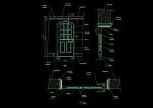 某详细的室内卧室门设计cad施工图