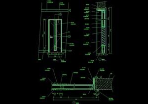 整体详细的完整卧室门设计cad施工图