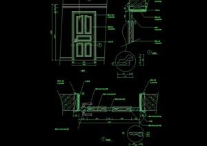室内卧室门设计cad施工图