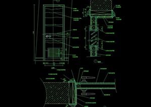 某详细的完整装饰门设计cad施工图