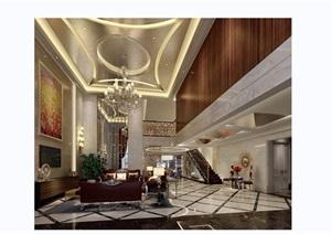 完整详细的室内客厅装饰设计3d模型