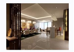 完整详细的客厅装饰设计3d模型及效果图