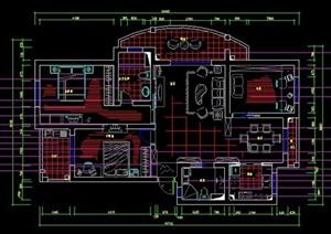 一套三室两厅家装住宅装修方案