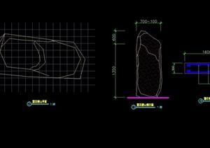 简单假山石头设计cad方案