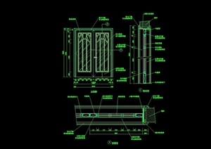 詳細的完整室內裝飾門設計cad施工圖