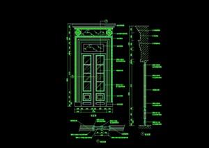 詳細的裝飾門設計cad施工圖
