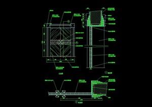 詳細的完整臥室裝飾門素材cad施工圖