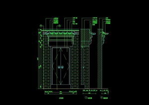 详细的建筑门设计cad施工图