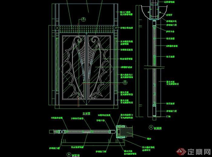 詳細的門窗裝飾素材cad施工圖