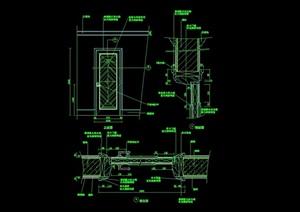 詳細的室內裝飾節點門設計cad施工圖