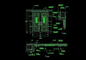 詳細的整體完整臥室門裝飾cad施工圖