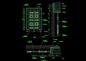 详细的装饰门素材设计cad施工图