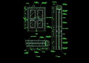 详细的整体门窗素材设计cad施工图