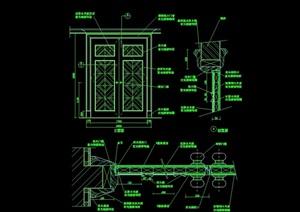 详细的整体完整装饰门设计cad施工图