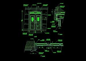 详细的整体装饰门设计cad施工图