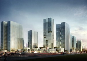 现代城市商业中心城市CBD商业住宅办公综合楼商务办公区