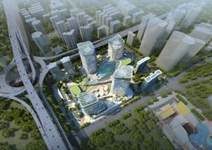现代创意参数化流线型高层住宅办公楼商业综合体设计城市商业中心