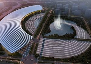 参数化圆弧形大型会展中心商务办公综合体