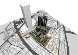 现代创意表皮高层住宅楼公寓商务办公楼商业购物节商业中心综合体