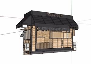 日式风格详细的亭房素材设计SU(草图大师)模型