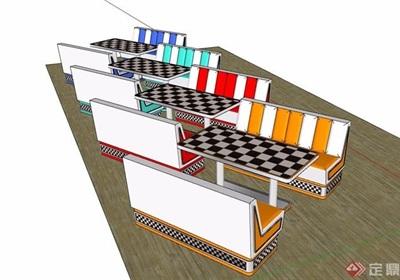 详细的完整桌椅素材设计su模型